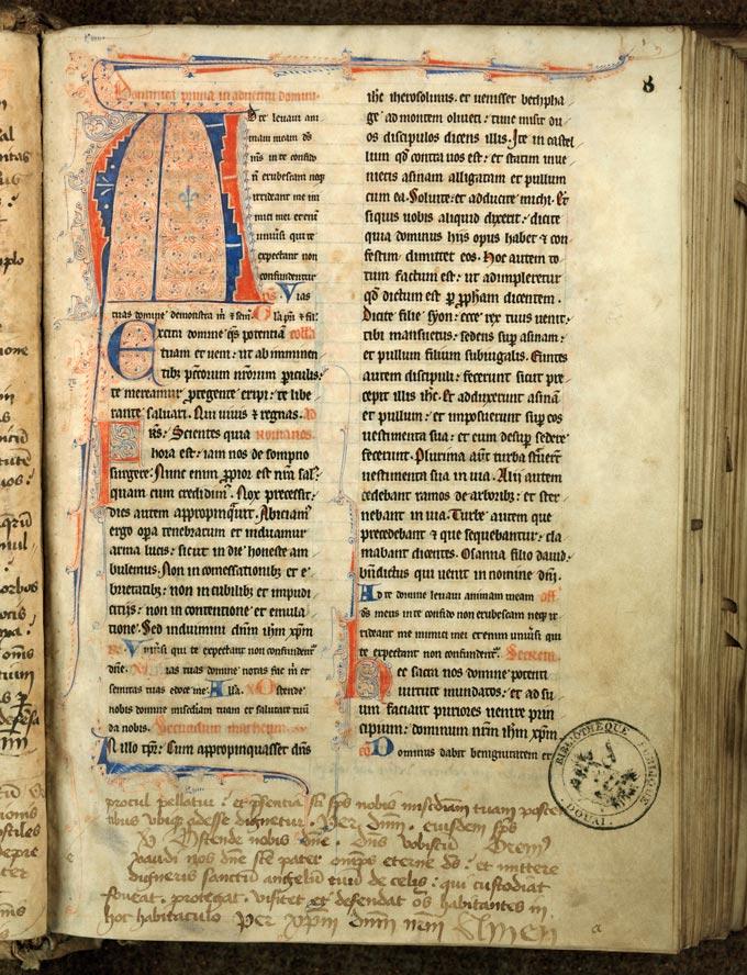 Missel à l'usage de l'abbaye de Sainte-Rictrude de Marchiennes - Initiale filigranée_0