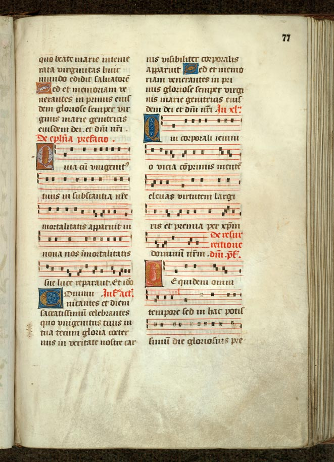 Missel à l'usage de l'abbaye de Sainte-Rictrude de Marchiennes