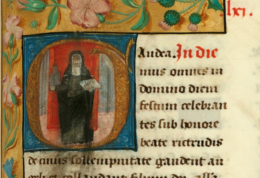 Missel à l'usage de l'abbaye de Sainte-Rictrude de Marchiennes - Sainte Rictrude_0