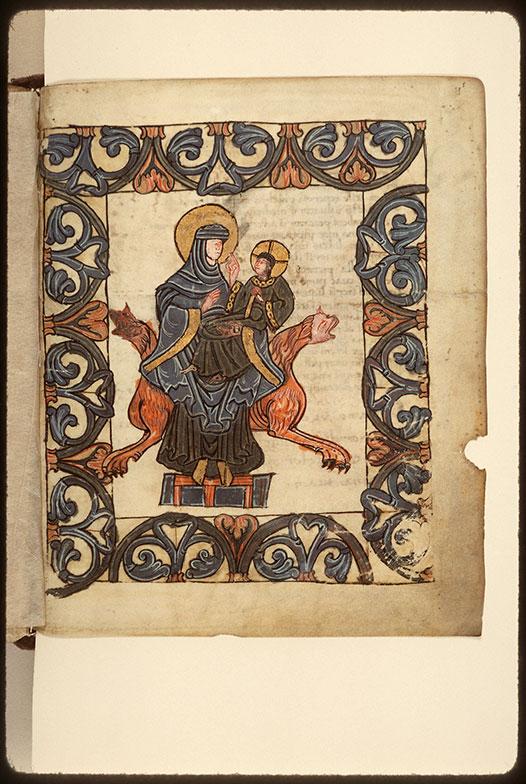 Psautier à l'usage d'Angers - Vierge à l'Enfant_0
