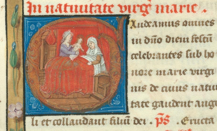 Missel à l'usage de l'abbaye de Sainte-Rictrude de Marchiennes - Nativité de la Vierge_0