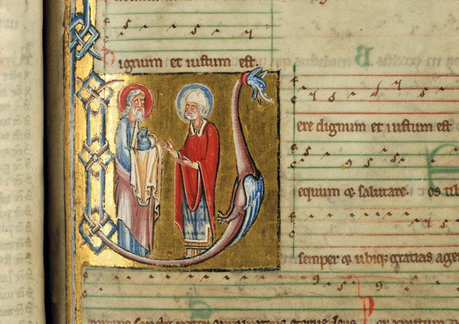 Missel à l'usage de l'abbaye d'Anchin - Abraham remettant une offrande à Melchisédech_0
