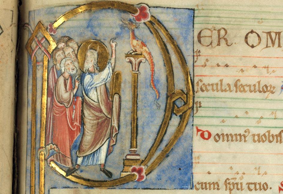 Missel à l'usage de l'abbaye d'Anchin - Moïse et le serpent d'airain_0