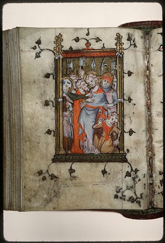 Heures à l'usage d'Amiens - Baiser de Judas et essorillage de Malchus_0
