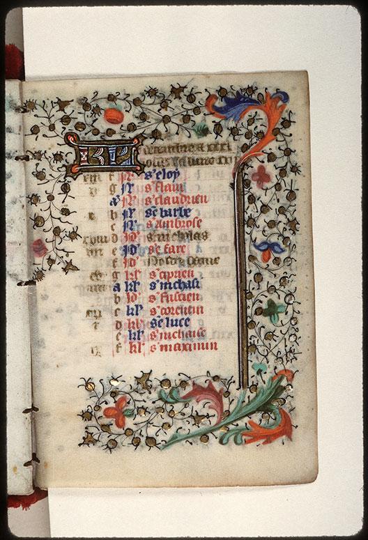 Heures à l'usage de Troyes - Page décorée_0