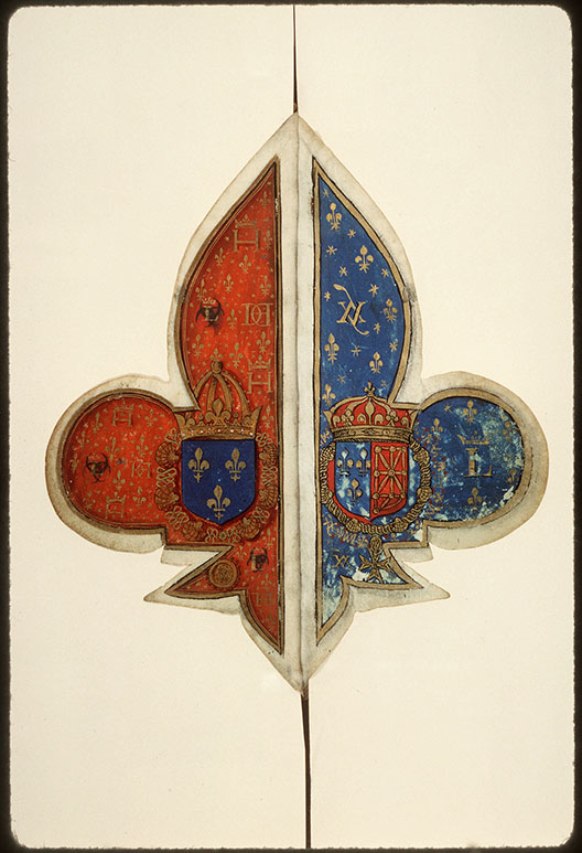 Heures à l'usage de Rome - Armes d'Henri II/Armes ajoutées de Louis III_0