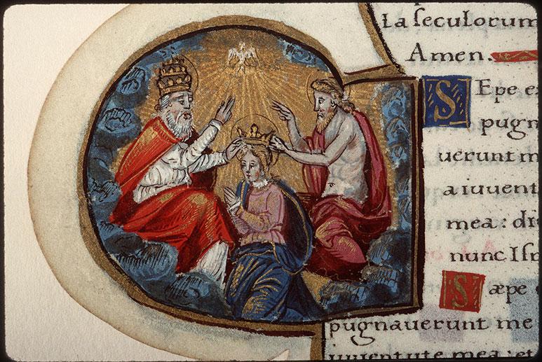 Heures à l'usage de Rome - Couronnement de la Vierge par la Trinité_0