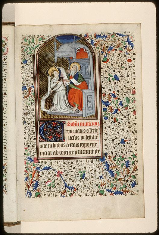 Heures à l'usage de Rome - Saint Matthieu écrivant et son symbole_0