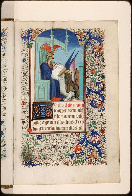 Heures à l'usage de Rome - Saint Marc écrivant et son symbole_0