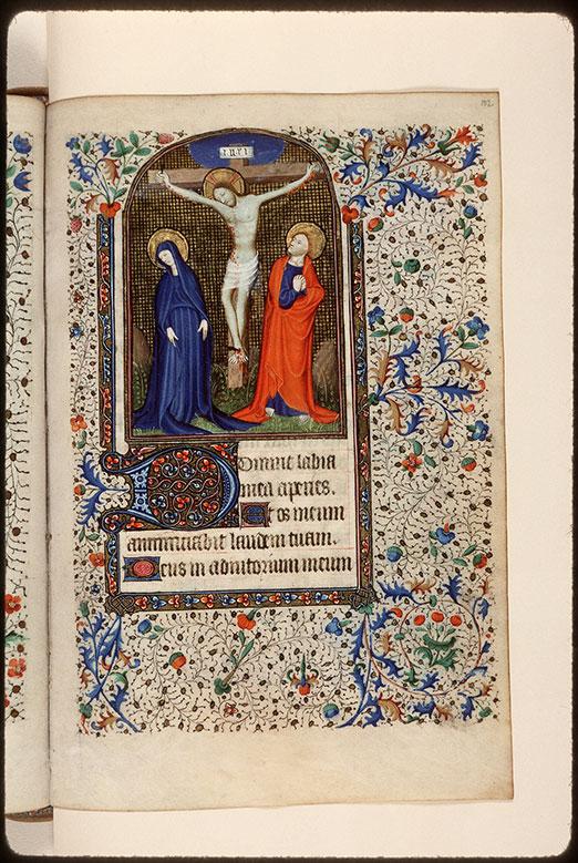 Heures à l'usage de Rome - Christ en croix entre Marie et Jean_0