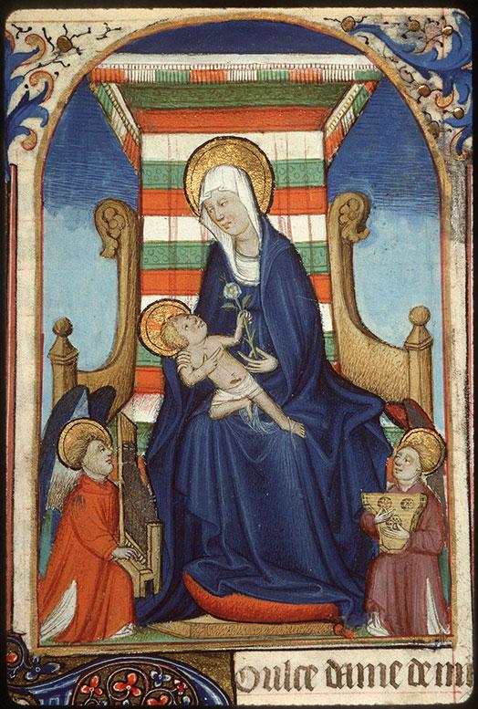Heures à l'usage de Rome - Vierge à l'Enfant et anges musiciens_0