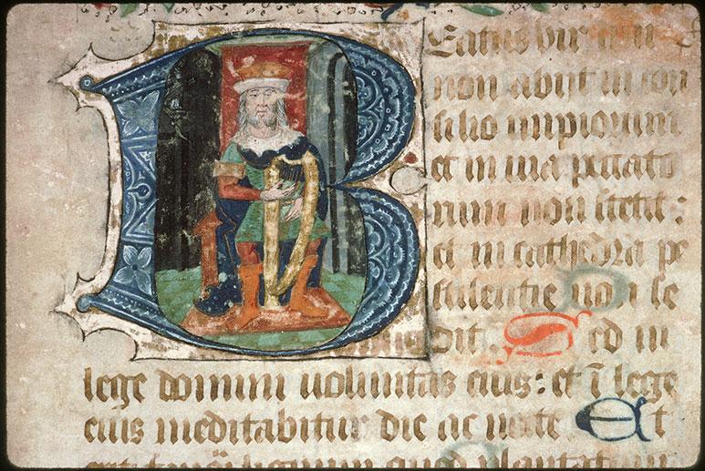 Psautier-hymnaire à l'usage de l'abbaye Saint-Fuscien-aux-Bois - David musicien_0