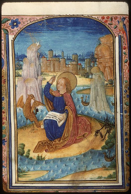 Heures à l'usage de Rome - Saint Jean à Patmos inspiré par le Saint-Esprit_0
