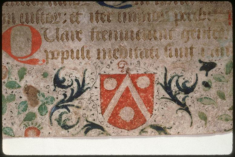 Psautier-hymnaire à l'usage de l'abbaye Saint-Fuscien-aux-Bois - Armes de Jean des Fontaines, abbé de Corbie_0