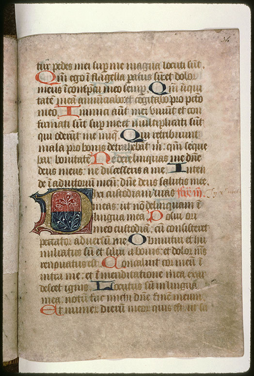 Psautier-hymnaire à l'usage de l'abbaye Saint-Fuscien-aux-Bois - Initiale champie_0