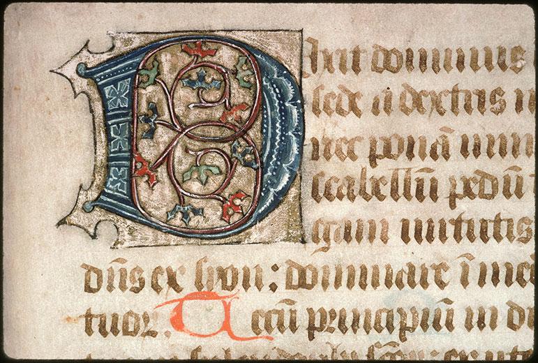 Psautier-hymnaire à l'usage de l'abbaye Saint-Fuscien-aux-Bois - Initiale ornée_0