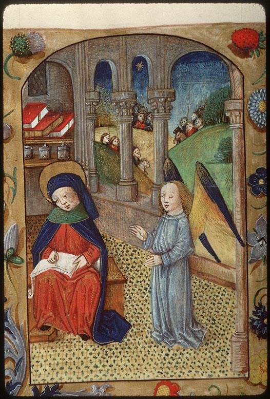 Heures à l'usage de Rome - Saint Matthieu écrivant/Rencontre des Mages_0