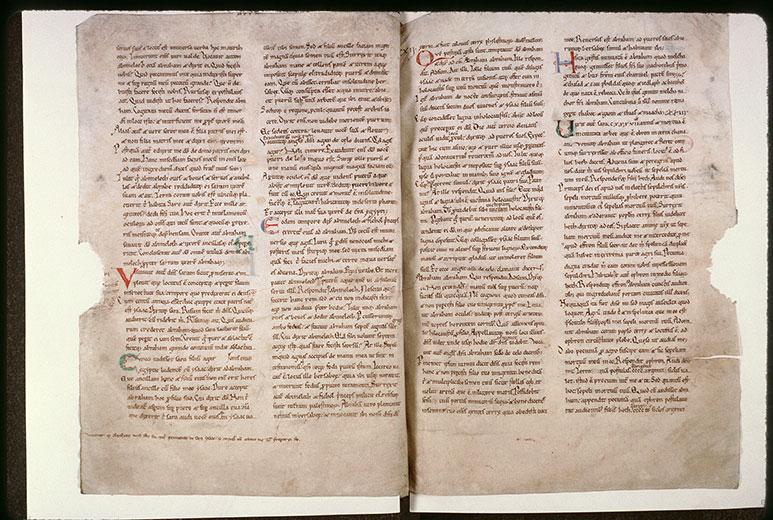 Bible (partie de) - Initiales de couleur ornées_0