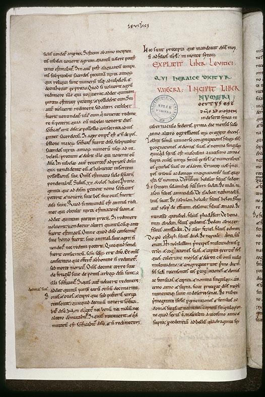 Bible (partie de) - Ecriture d'apparat_0
