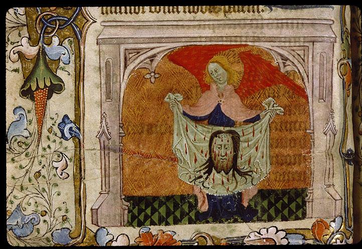 Psautier-heures - Ange présentant la Sainte Face_0