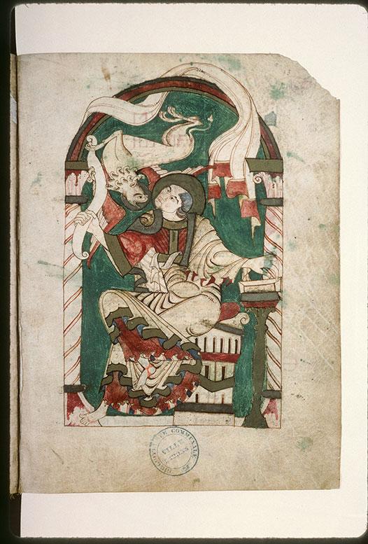 Evangiles - Saint Marc recevant l'Evangile de son symbole_0