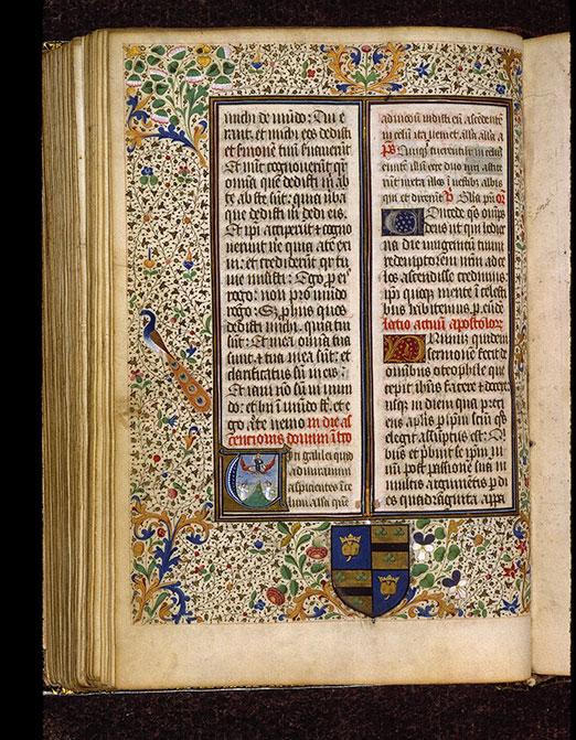 Missel romain - Page décorée, avec armes d'Anne Régin_0