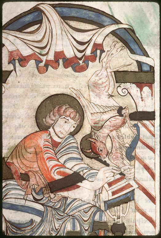 Evangiles - Saint Luc écrivant inspiré par son symbole_0