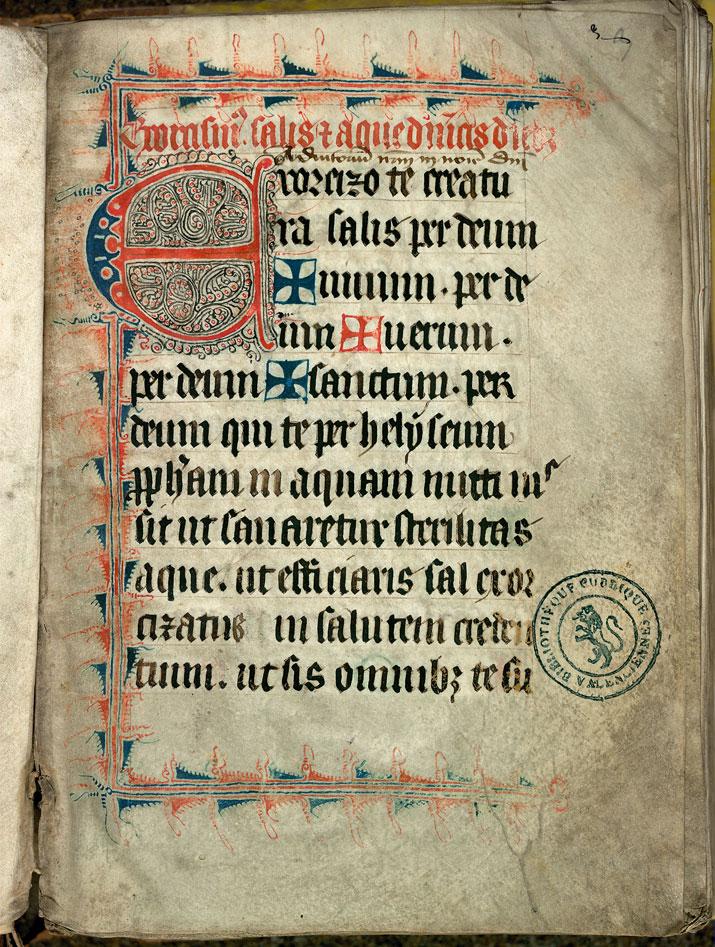 Collectaire-ordinaire à l'usage de l'abbaye de Saint-Amand