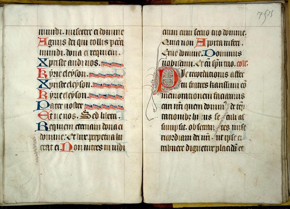 Collectaire-ordinaire à l'usage de l'abbaye de Saint-Amand - Initiale filigranée_0