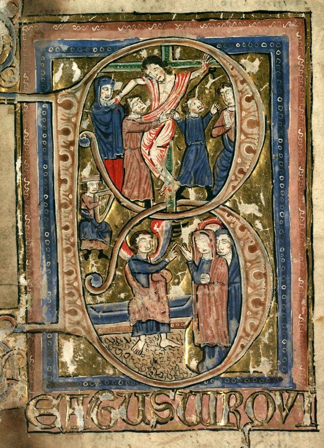 Psautier à l'usage de la collégiale Saint-Pierre de Lille - David jouant de la harpe_0