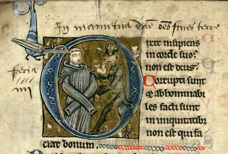 Psautier à l'usage de la collégiale Saint-Pierre de Lille - Insensé et le diable (L')_0