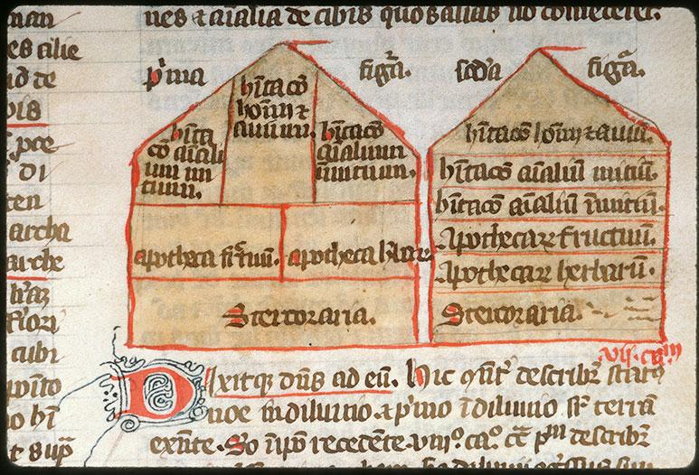 Postilla in Bibliam - Plan de l'arche de Noé_0