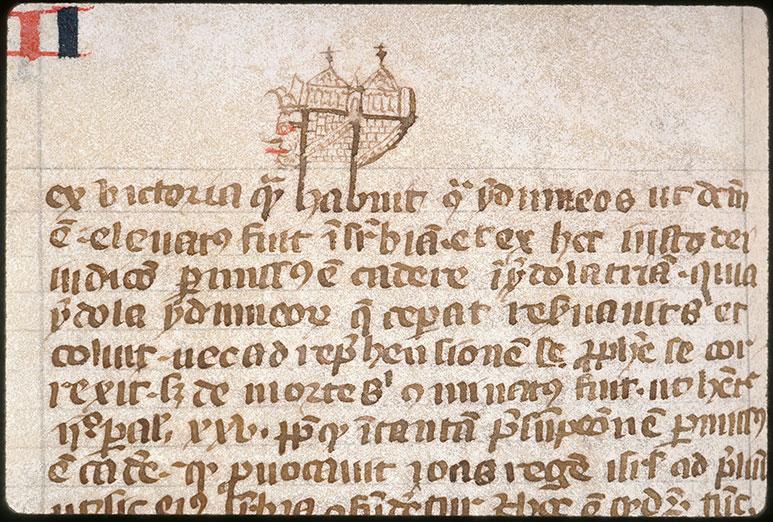Postilla in Bibliam - Tête d'homme tirant la langue/Château_0