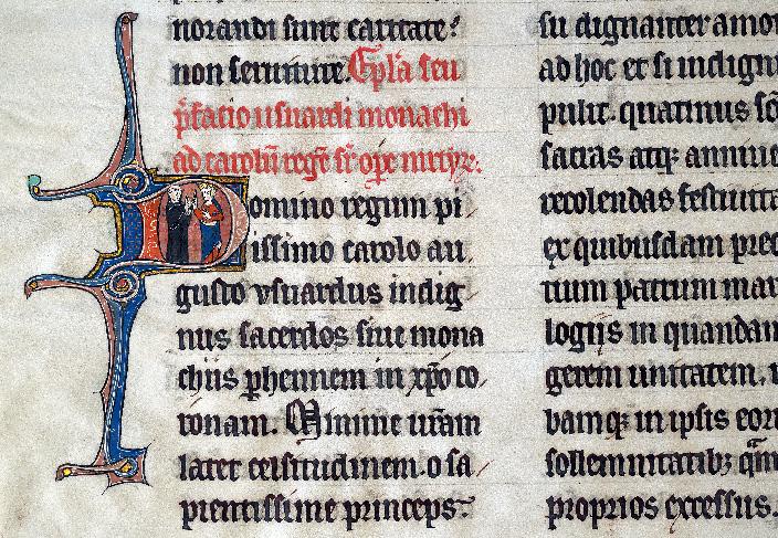 Martyrologe-obituaire de l'abbaye Notre-Dame des Prés de Douai - Usuard et Charles le Chauve_0