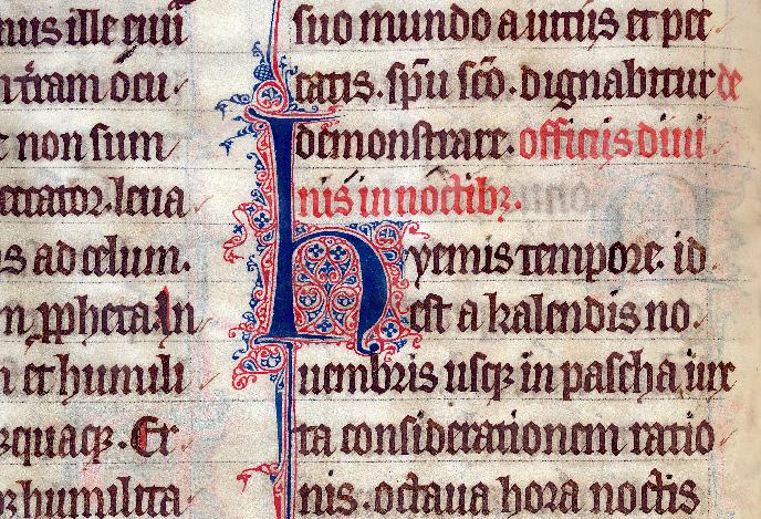 Martyrologe-obituaire de l'abbaye Notre-Dame des Prés de Douai - Initiale filigranée_0