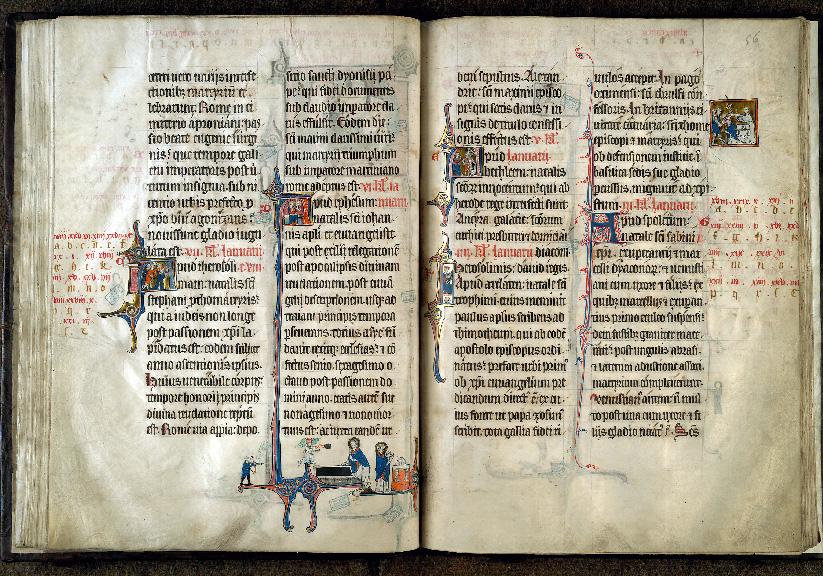 Martyrologe-obituaire de l'abbaye Notre-Dame des Prés de Douai - Lapidation de saint Etienne_0