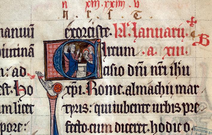 Martyrologe-obituaire de l'abbaye Notre-Dame des Prés de Douai - Circoncision_0