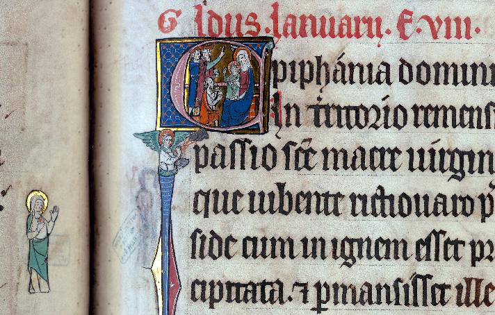 Martyrologe-obituaire de l'abbaye Notre-Dame des Prés de Douai - Adoration des Mages_0