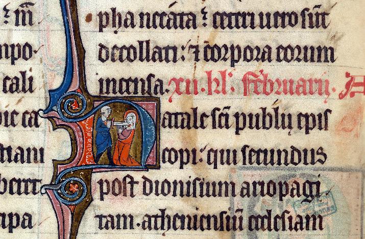 Martyrologe-obituaire de l'abbaye Notre-Dame des Prés de Douai - Martyre de sainte Agnès_0