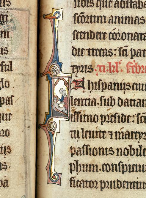 Martyrologe-obituaire de l'abbaye Notre-Dame des Prés de Douai - Martyre de saint Vincent_0