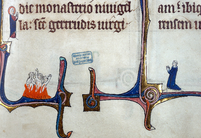 Martyrologe-obituaire de l'abbaye Notre-Dame des Prés de Douai - Sainte Gertrude de Nivelles_0