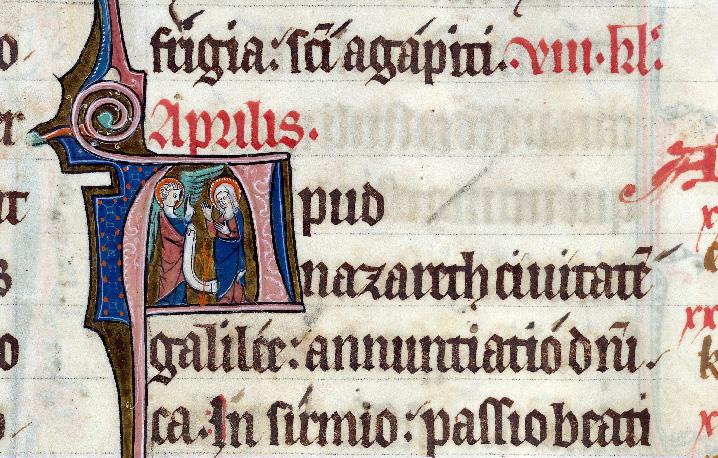 Martyrologe-obituaire de l'abbaye Notre-Dame des Prés de Douai - Annonciation/Visitation/Mariage de la Vierge_0