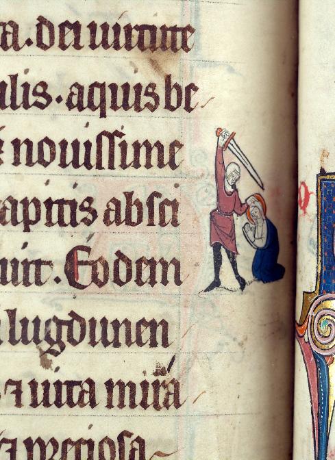 Martyrologe-obituaire de l'abbaye Notre-Dame des Prés de Douai - Sainte Théodosie de Tyr/Décollation de Sainte Théodosie de Tyr_0