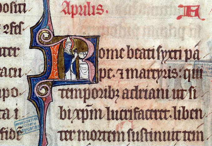 Martyrologe-obituaire de l'abbaye Notre-Dame des Prés de Douai - Saint Sixte Ier (à préciser)_0