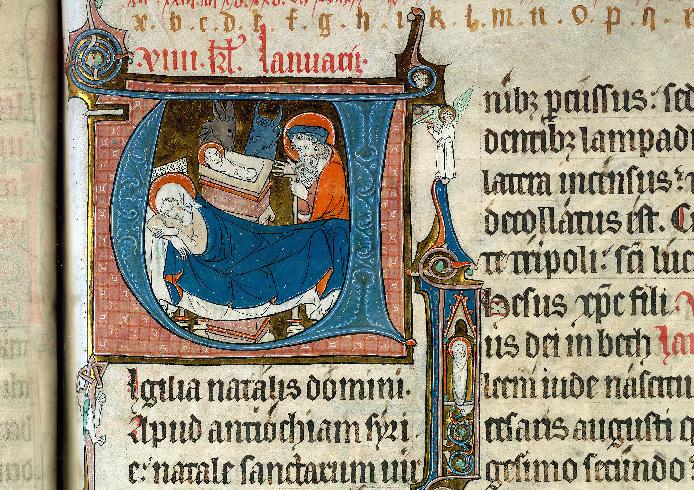 Martyrologe-obituaire de l'abbaye Notre-Dame des Prés de Douai - Enfant Jésus_0