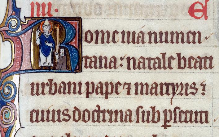 Martyrologe-obituaire de l'abbaye Notre-Dame des Prés de Douai - Saint Urbain_0