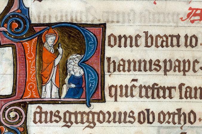 Martyrologe-obituaire de l'abbaye Notre-Dame des Prés de Douai - Saint Jean Ier prêchant_0