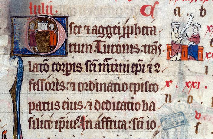 Martyrologe-obituaire de l'abbaye Notre-Dame des Prés de Douai - Translation des reliques de saint Martin_0