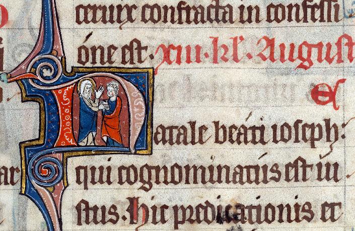 Martyrologe-obituaire de l'abbaye Notre-Dame des Prés de Douai - Vierge et saint Joseph Barsabbas_0