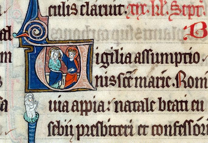 Martyrologe-obituaire de l'abbaye Notre-Dame des Prés de Douai - Couronnement de la Vierge_0